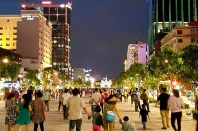 What are most ideal places in Saigon for pedestrians?